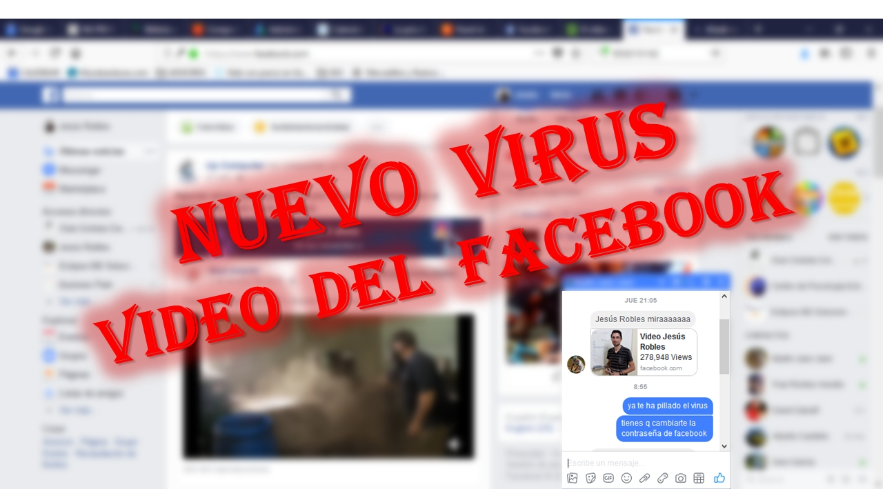 Virus video en mensaje de Facebook