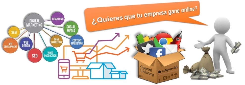 Esquema de ganar dinero mediante el marketing digital y SEO